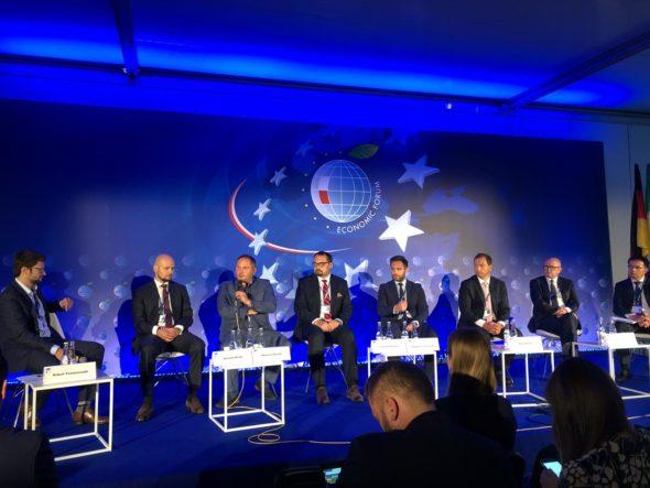 Panel poświęcony krytycznej infrastrukturze energetycznej podczas Forum Ekonomicznego 2019. Fot. BiznesAlert.pl/Bartłomiej Sawicki