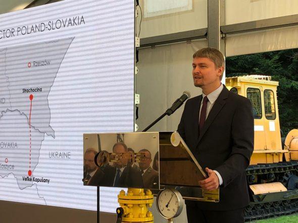 Inauguracja budowy Gazociągu Polska-Słowacja. Prezes Gaz – System Tomasz Stępień fot. BiznesAlert.pl