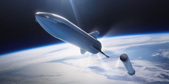 Rakieta Starship firmy Spacex Elona Muska. Źródło: Wikipedia