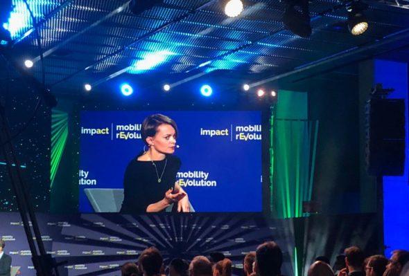Jadwifa Emilewicz, Minister Przedsiębiorczości i Technologii podczas Impact Mobility 19. Fot. BiznesAlert.pl/Bartłomiej Sawicki