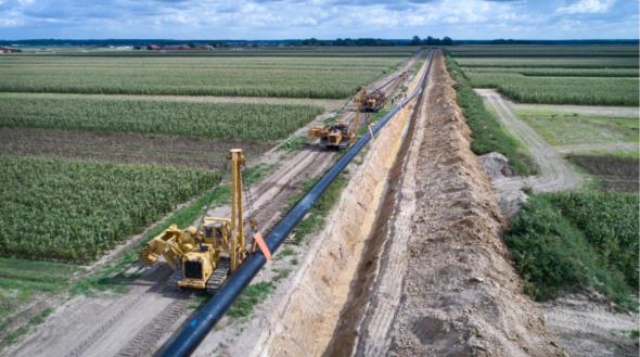 Budowa gazociągu Lwówek-Odolanów fot. Gaz-System