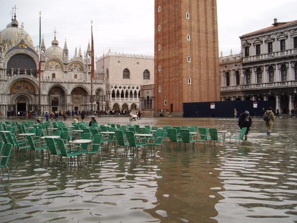 Powódź w Wenecji. Źródło: Wikicommons
