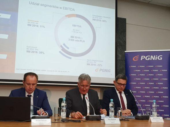 Konferencja wynikowa PGNiG za III kw. 2019. Fot. BiznesAlert.pl/Wojciech Jakóbik
