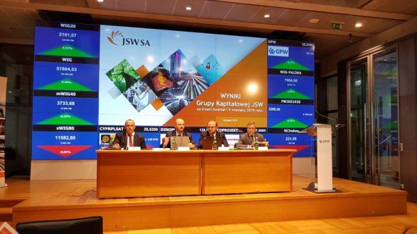 Konferencja wynikowa JSW III kw. 2019. Fot.: Piotr Stępiński/BiznesAlert.pl