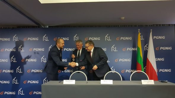 Podpisanie umowy PGNiG z Klaipedos Nafta. Fot.: Piotr Stępiński/BiznesAlert.pl