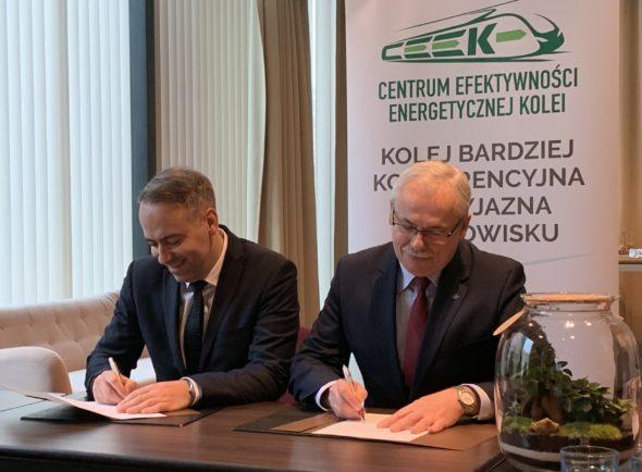 Porozumienie PKP Energetyka i Łódzka Kolej Aglomeracyjna. Fot.: PKP Energetyka