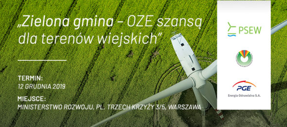 """Konferencja """"Zielona gmina – OZE szansą dla terenów wiejskich"""""""