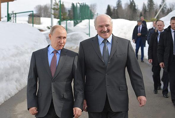 Prezydent Białorusi A. Łukaszenka oraz Prezydent Rosji W. Putin fot. president.gov.by