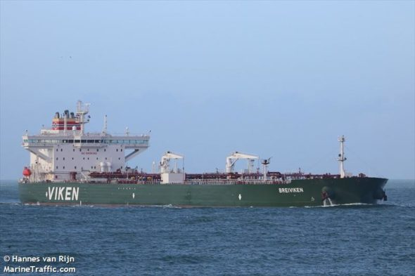 Tankowiec Breiviken fot. Hannes van Rijn/MarineTraffic.com