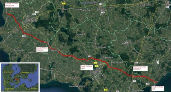 Baltic Pipe odcinek lądowy Dania Ahak