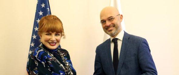 Georgette Mosbacher i Michał Kurtyka. Fot Ministerstwo Klimatu