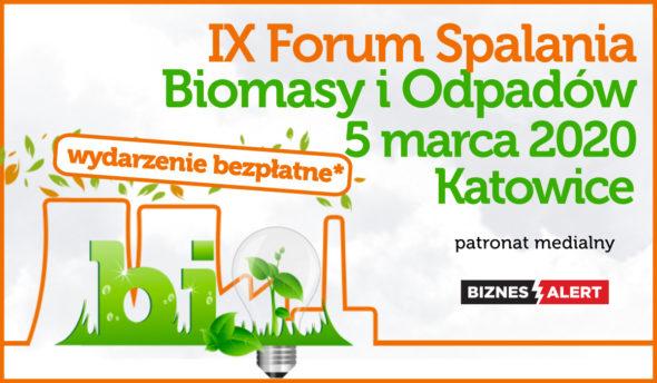 IX Forum Spalania Biomasy i Odpadów – Patronat BiznesAlert.pl