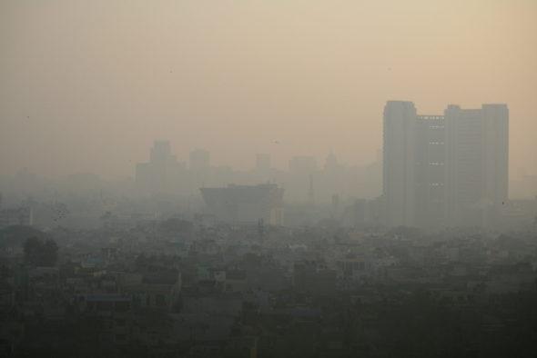 New Delhi smog zanieczyszczenie powietrza