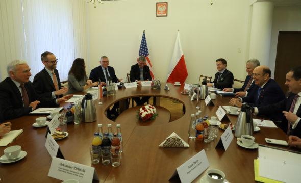 Polsko-amerykańskie spotkanie dot. współpracy w zakresie energii. Fot.  Ministerstwo Klimatu