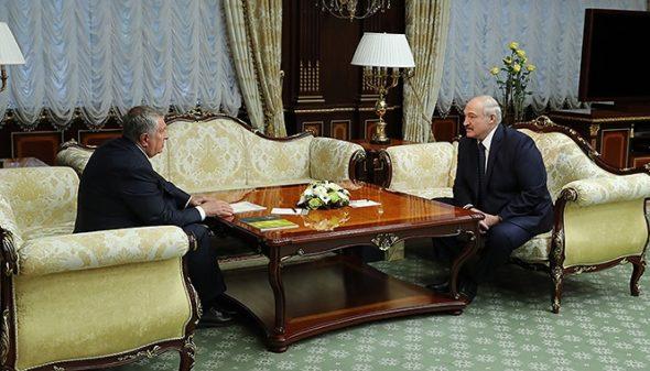 Aleksandr Łukaszenka i Igor Sieczin KPB