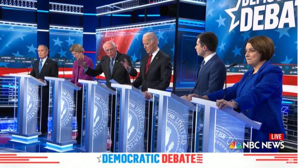 Debata kandydatów na prezydenta Partii Demokratycznej. Źródło YouTube NBC News BiznesAlert.pl