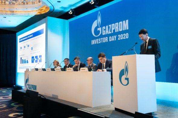 Gazprom dzień inwestora 2020