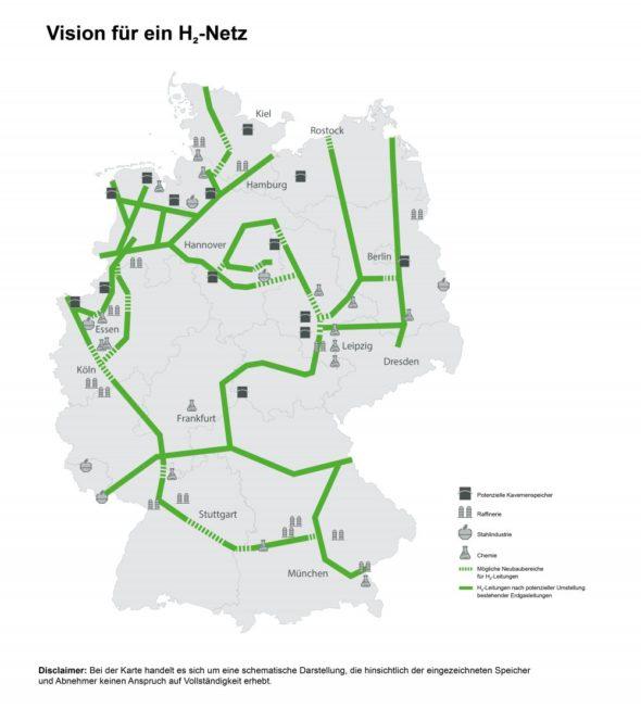 Wodór sieć Niemcy FNB Gas
