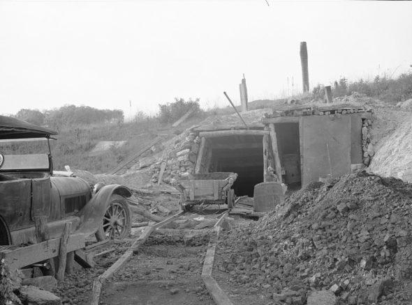 Kopalnia węgla w stanie Iowa w 1936 roku. Źródło Wikipedia