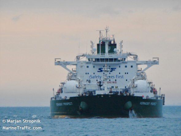 Tankowiec Wernadskij Prospekt fot. Marjan Stropnik/MarineTraffic.com