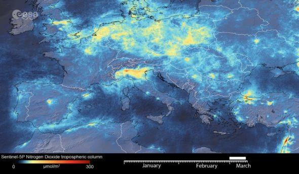 Emisje NOx w Europie