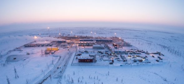 Pole gazowe Zapolarnoje fot. Gazprom
