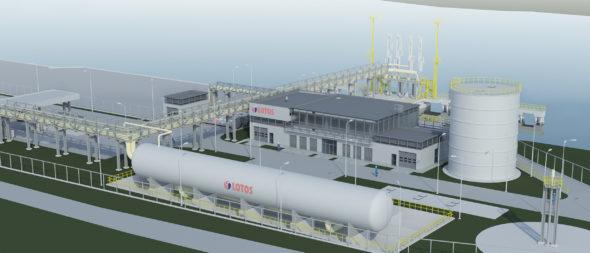 Wizualizacja projektu LNG małej skali w Gdańsku.Grafika: Grupa Lotos