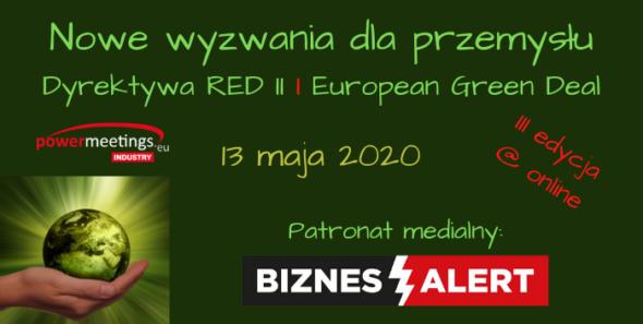 SZKOLENIE: Nowe wyzwania dla przemysłu – Dyrektywa RED II i European Green Deal