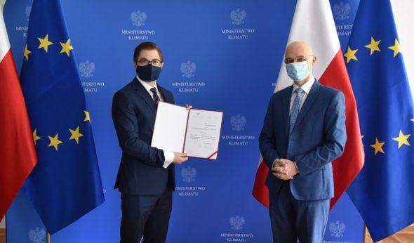 Minister klimatu Michał Kurtyka i prezes Państwowej Agencji Atomistyki Łukasz Młynarkiewicz fot. Ministerstwo Klimatu