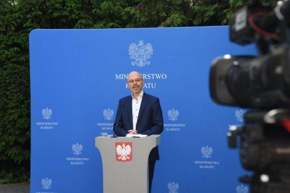 Minister Klimatu Michał Kurtyka. Fot.; Ministerstwo Klimatu.