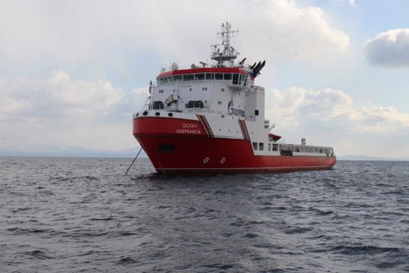 Statek Ostap Szeremeta fot. Gazprom Fłot