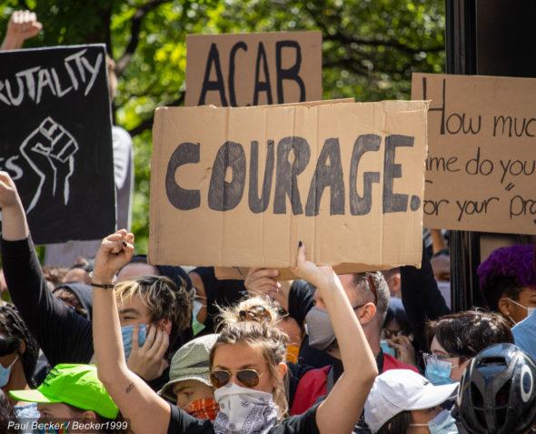 Protesty po zabójstwie George'a Floyda. Źródło Wikicommons