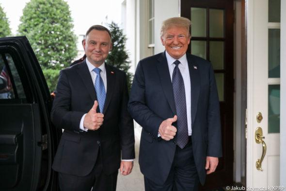 Andrzej Duda i Donald Trump. Źródło: Twitter KPRP
