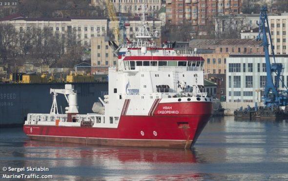 Statek Gazpromu Iwan Sidorenko fot.Marinetraffic