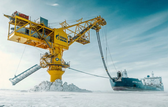 Terminal naftowy Wrota Arktyki fot. Gazprom Nieft