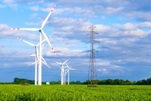 Farmy wiatrowe. Fot.; Energa