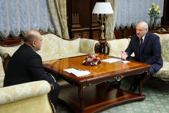 Spotkanie Łukaszenki i Miszustina for.President.by