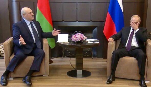 Spotkanie Putin Łukaszenka fot. YT/Kremlin