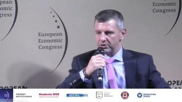 Prezes Towarowej Giełdy Energii podczas EKG 2020. Fot.: Bartłomiej Sawicki/BiznesAlert.pl