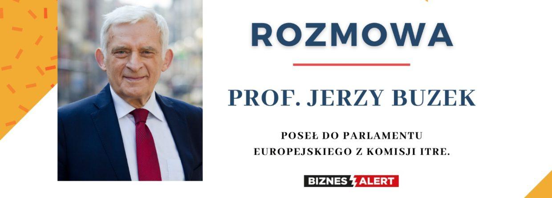 Prof. Jerzy Buzek. Grafika: Gabriela Cydejko