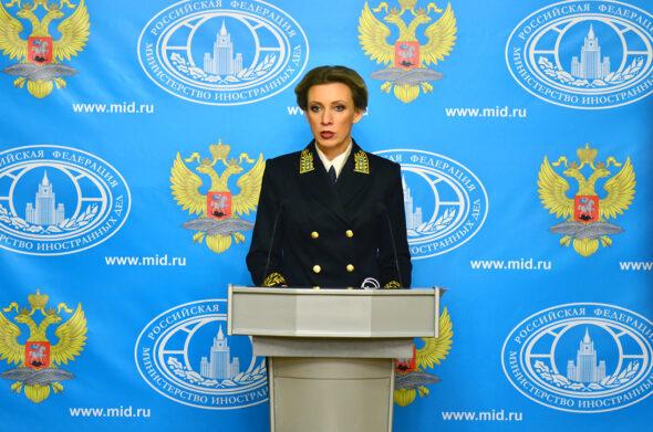 Rzeczniczka MSZ Rosji Maria Zacharowa fot. MSZ Rosji