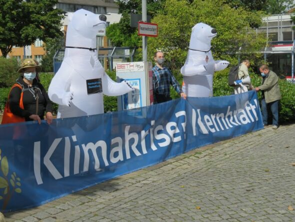 Demonstracja w obronie atomu w Niemczech. Fot.: Nuklearia