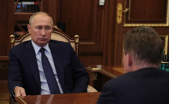 Władimir Putin i Aleksiej Miller