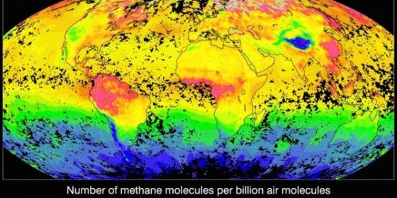 Emisje metanu na świecie. Dane Europejskiej Agencji Kosmicznej dla Uniwersytetu Bremeńskiego