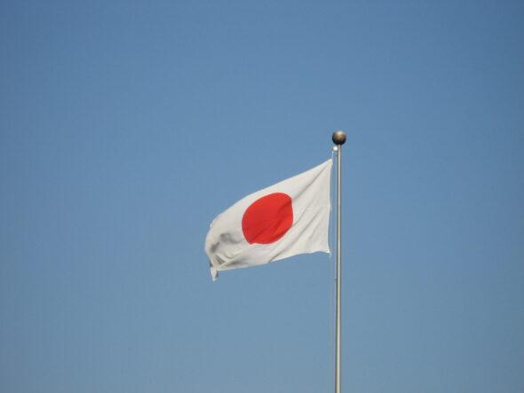 Flaga Japonii. Źródło Wikicommons