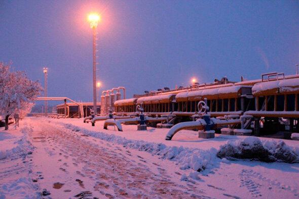 Magazyn gazu w Rosji fot.Gazprom GChP