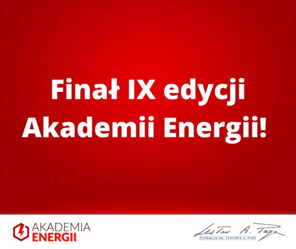 """Finał IX edycji Akademii Energii – """"Kiedy kryzys puka do naszych drzwi"""". Grafika organizatora."""