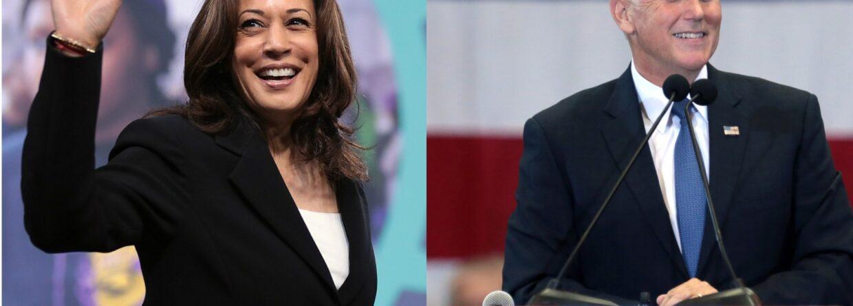 Kamala Harris i Mike Pence. Grafika: Gabriela Cydejko