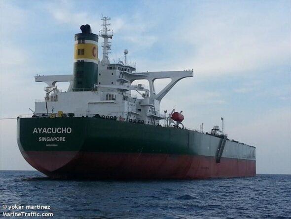 Tankowiec Maxim Gorki jeszcze jako Ayacucho fot. Marinetraffic