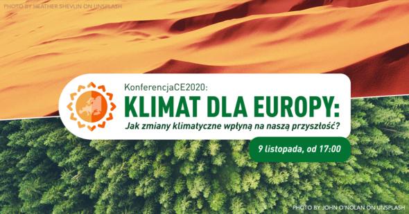 KLIMAT DLA EUROPY: Jak zmiany klimatyczne wpłyną na naszą przyszłość? Grafika organizatora